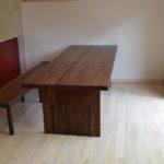 ウォールナット板脚テーブル