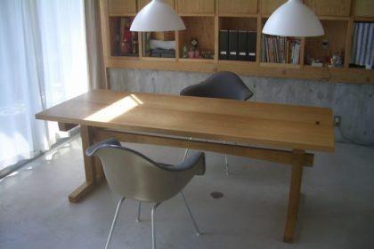 楢2枚矧ぎテーブル