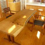 黄肌1枚板テーブル