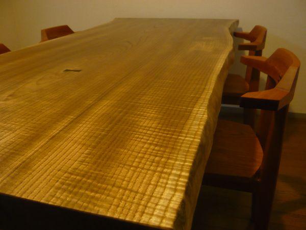 黄肌杢板テーブル