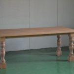 オーク挽き脚テーブル