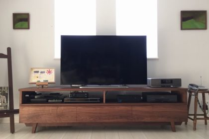 ウォールナット材テレビボード