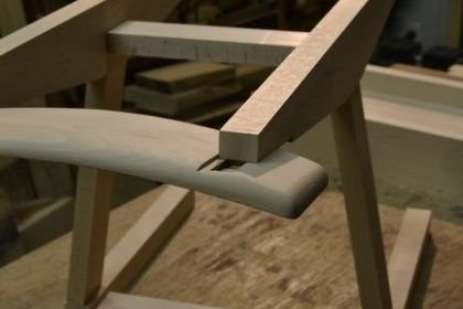 椅子の笠木
