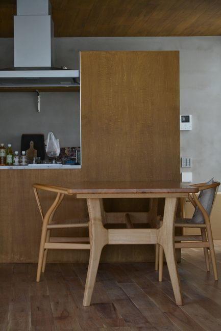 栗材オーダーテーブル