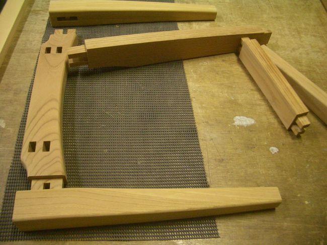 欅 ダイニングチェアー 部材