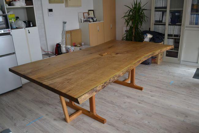 無垢オフィステーブル